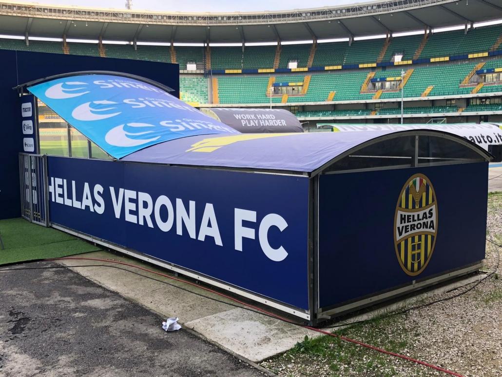 Allestimento Stadio Hellas Verona